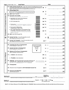 Form CD-401S Fillable S Corporation Tax Return -instructions
