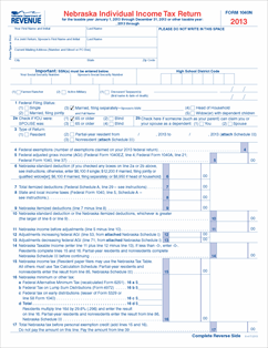 Form 1040n fillable 2013 nebraska individual income tax for 1040a tax table 2013 pdf