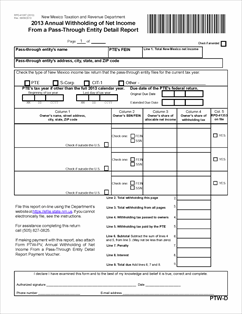 Form RPD-41367 Fillable Annual Withholding of Net Income From a ...