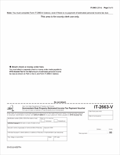 Form IT-2663(2014) Fillable Nonresident Real Property Estimated ...