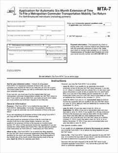 Form MTA-7 Fillable Application for Automatic Six-Month Extension ...