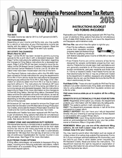 Form pa-40in fillable 2014 pennsylvania personal income tax return.