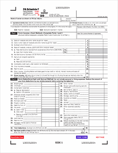 Form PA-40F Fillable PA Schedule F - Farm Income and Expenses (PA ...
