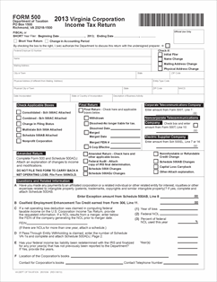Form 500 Fillable 500 - Corporate Income Tax Return