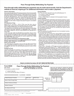 Form 502W Fillable 502W - Pass-Through Entity Withholding Tax ...