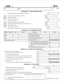 Form 6020 Fillable 2014 Corporation Net Income Tax Return-Short Form