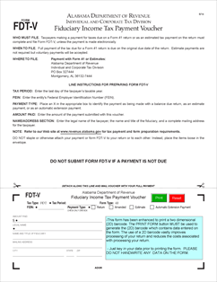Form FDT-V Fillable Fiduciary Income Tax Payment Voucher