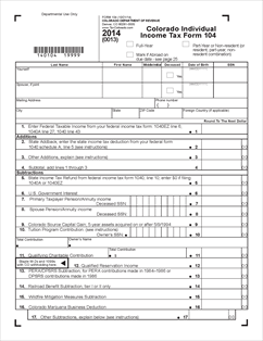 2014 Federal Income Tax Forms