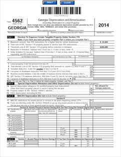 Form 4562 Fillable Depreciation and Amortization. This form is for ...