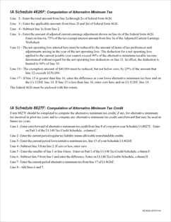 form 540 schedule p alternative minimum tax and credit limitations