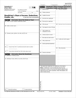 Form 1041 (Schedule K-1) Fillable Beneficiary's Share of Income ...
