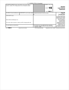 Form 1098-E Fillable Student Loan Interest Statement (Info Copy Only)