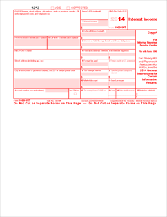 Form 1099-INT Fillable Interest Income (Info Copy Only)