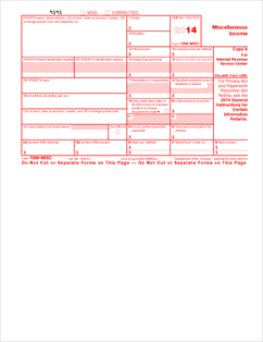 Form 1099-MISC Fillable Miscellaneous Income (Info Copy Only)