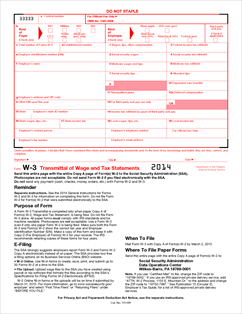 Form W-3 Fillable Transmittal of Wage and Tax Statements ...