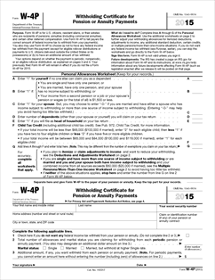 Form W-4P Fillable Withholding Certificate for Pension or Annuity ...