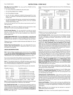 Form 42A740EZ Fillable Kentucky Individual Income Tax Return