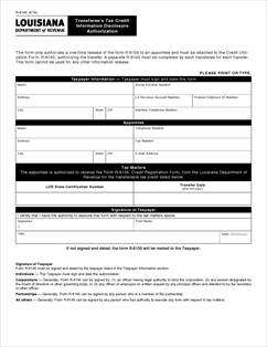 Form R-6145 Fillable Transferee's Tax Credit Information ...