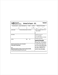 Form 1-ES Fillable 2015 Estimated Income Tax Payment Vouchers