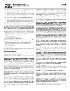 Form 500CR-Instructions Fillable Business Income Tax Credits