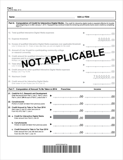 Form NC-478I Fillable Tax Credit - Research and Development ...