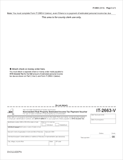 Form IT-2663 (2015) Fillable Nonresident Real Property Estimated ...