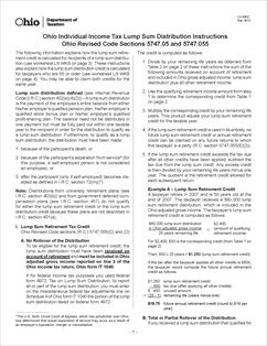 Instructions For Form Ls-1 - Ohio Individual Income Tax