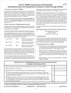 Form IT 4708ES Fillable Ohio Estimated Income Tax Payment Coupon ...