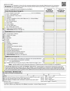 Form 512 Fillable Corporate Income Tax Return (form and schedules)