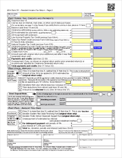 Form 511 Fillable Individual Resident Income Tax Return