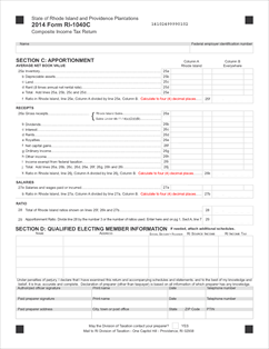 Form RI-1040C Fillable 1040C Form only