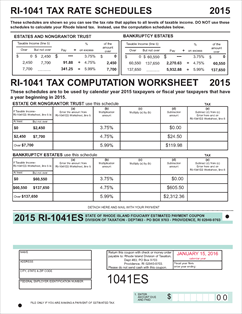 Form 1041ES Fillable 2015 1041 Fiduciary Estimated Tax Coupons for ...
