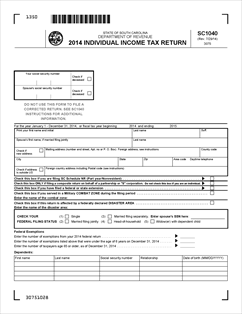 Form SC1040 Fillable SC1040: Individual Income Tax Return