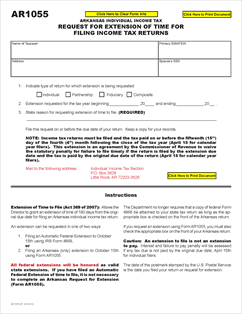 Form AR1055 Fillable Extension of Time to File Request ...