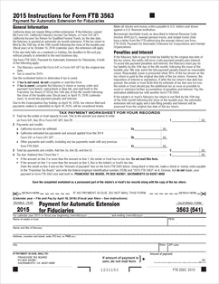 3563 (541) Form Payment for Automatic Extension for Fiduciaries ...