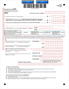 Form 500-EZ Fillable Individual Income Tax Return