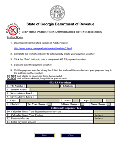 Form 602 ES Fillable Corporate Estimated Tax.