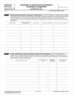Form 1120 Schedule G Fillable Information On Certain Persons