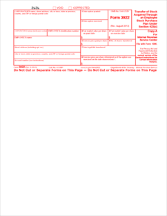 Form 3922 Fillable Transfer of Stock Acquired Through An Employee ...