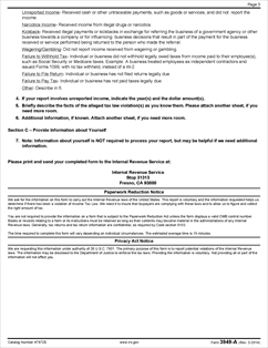 Form 3949-A Fillable Information Referral