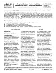 Form 5305-SEP Fillable Simplified Employee Pension ...