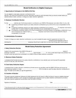Form 5305-SIMPLE Fillable Savings Incentive Match Plan for ...