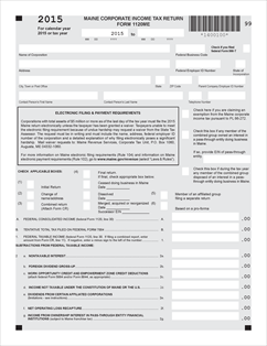Form 1120ME Fillable Corporate income tax form