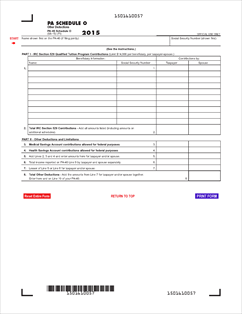 Form PA-40 O Fillable PA Schedule O - Other Deductions