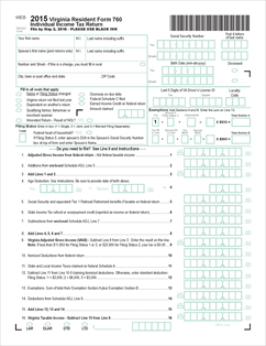 Form 760 Fillable 760 - Resident Individual Income Tax Return