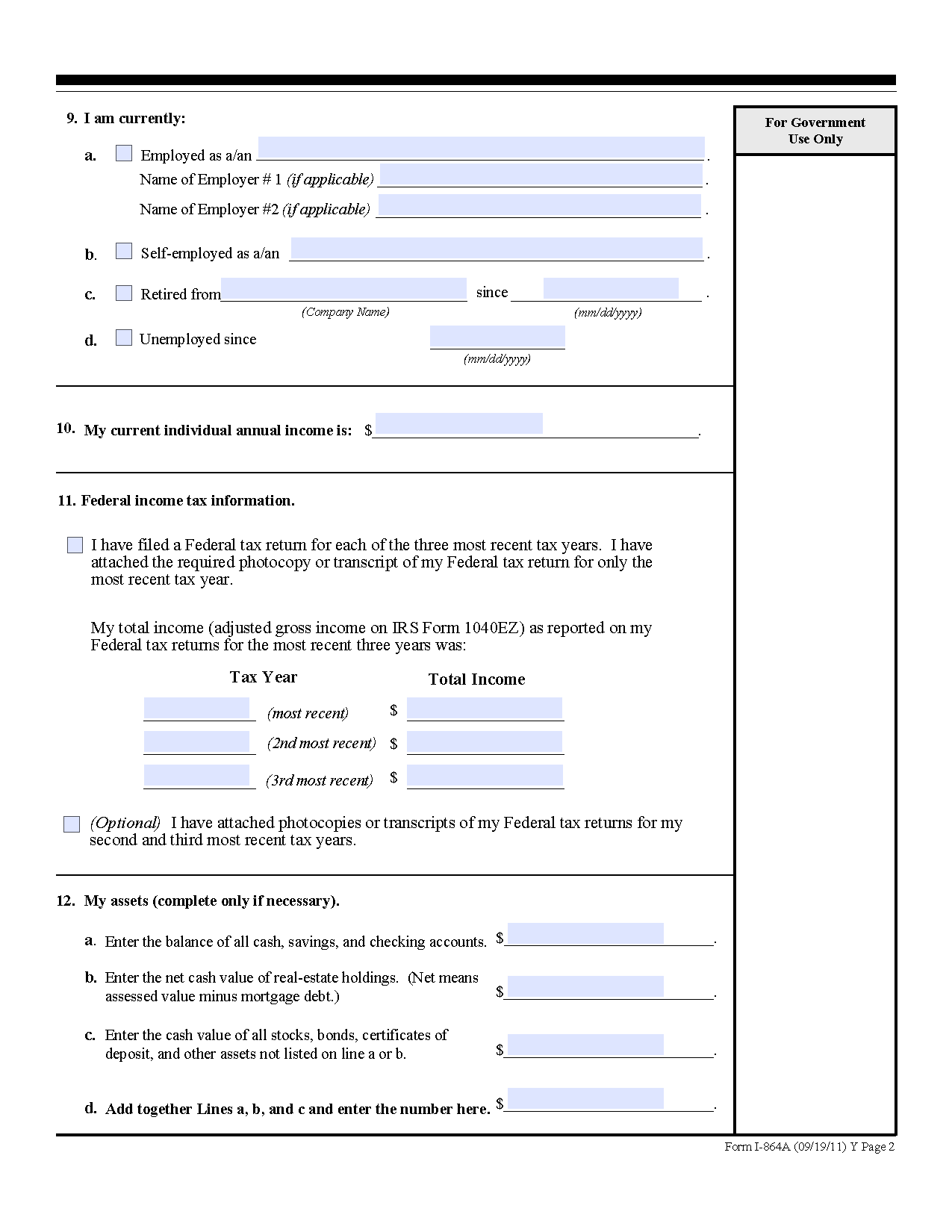 Uscis Form I 864 Download Heartpulsar