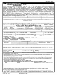 va form 26 1859 Form 26-1820 Report and Certification of Loan Disbursement
