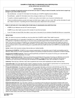 Form 10 7959c Champva Other Health Insurance Ohi Certificate