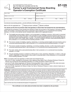 Form ST-125 Fillable Farmers and Commercial Horse Boarding ...