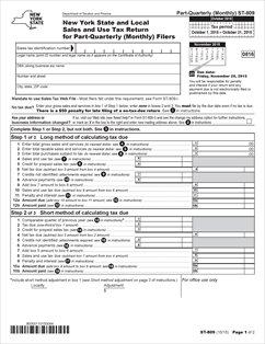 Nys Sales Tax >> Form St 809 Fillable New York State And Local Sales And Use Tax